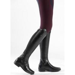 Boty dámské vysoké boční zip z kůže i šněrovací