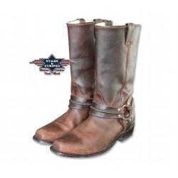 Westernové boty kůže styl ukopnuté špičky