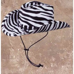Westernový klobouk zebra doprodej typu