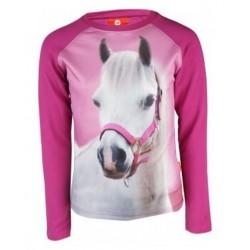 Tričko dívčí s hlavou koně potisk s kvalitní