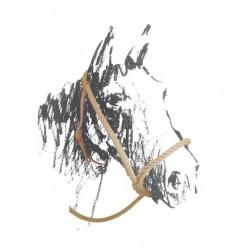Ohlávka výcviková konopný provaz stavitelný nánosník