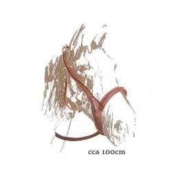 Ohlávka pošitá kůží konopný provaz stavitelný nánosník
