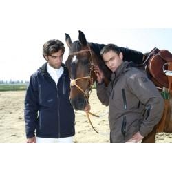 Jezdecká bunda pánská zimní s výztuhou páteře pánská