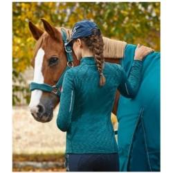 Mikina dámská sportovní melanž strečová tkanina