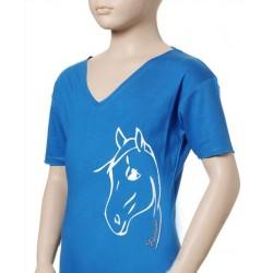 Tričko s koněm dětské bavlna jersey