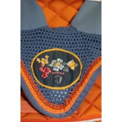 Čabraka Horka s květy bavlna háčkovaná Horka