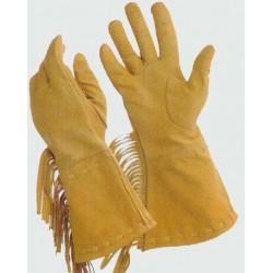 Rukavice western z kůže dámské s třásněmi