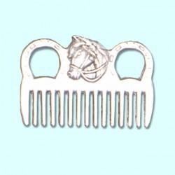 Hřeben s koňskou hlavou aluminiový