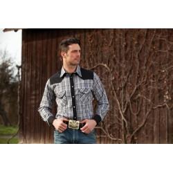 Westernová košile káro pánská dl.rukáv Brian