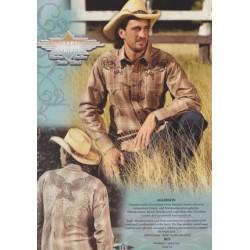 Westernová košile hnědý orel Top dl.rukáv 100%ba