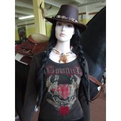 Tričko dámské westernové dl.rukáv Cowgirl