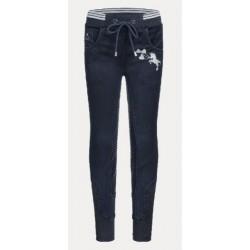 Rajtky legíny dívčí jeans jednorožec 73%ba 24%po 3%el