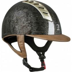 Jezdecká přilba s imitací kůže Grafika design