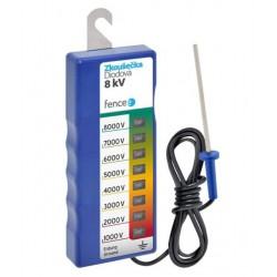 Zkoušečka pro ohradníkový zdroj 1- 8 kV se zemněním